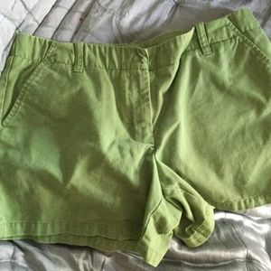 J. Crew Green Women's Chino Shorts Size 8 Low Fit